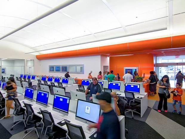 World's first paperless public library in US Bexar County, Texas. I have to say each to their own. This type of library is suited to certain demographics and it is great that they are able to connect with the community.  However....Give me a good paper book any day