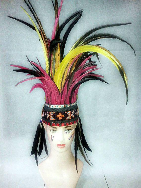 SALE Indian style headdress Rave Headdress Papua Warrior