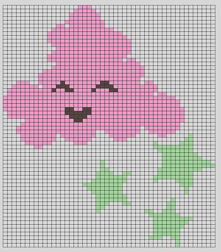 Happy Cloud Knitting Chart