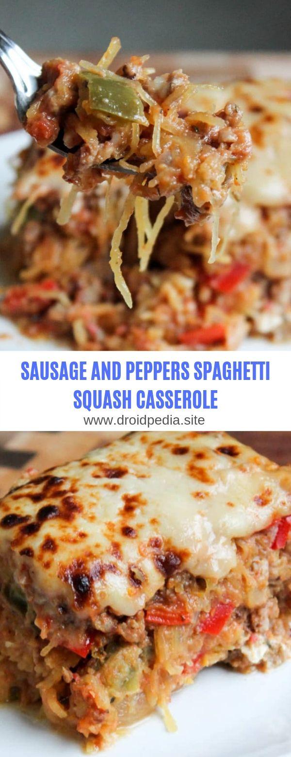 WURST UND PAPRIKA SPAGHETTI SQUASH CASSEROLE # Frühstück # Wurst # Spaghetti # Cass …