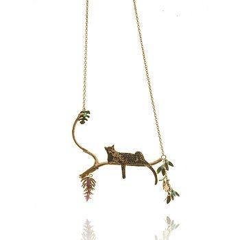 22ct gold leopard necklace