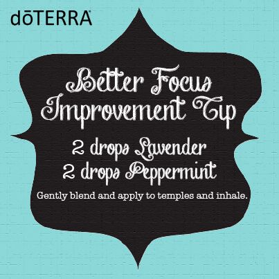 Lavender and peppermint essential oils for focus