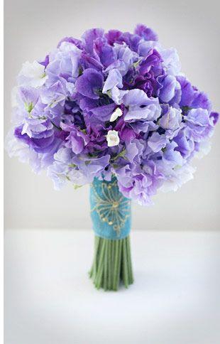 Purple Sweet Pea Bouquet
