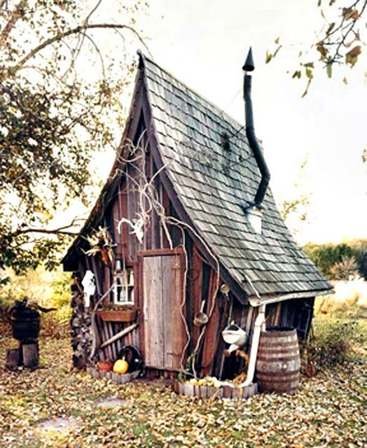 rustic recycled small building in minnesota