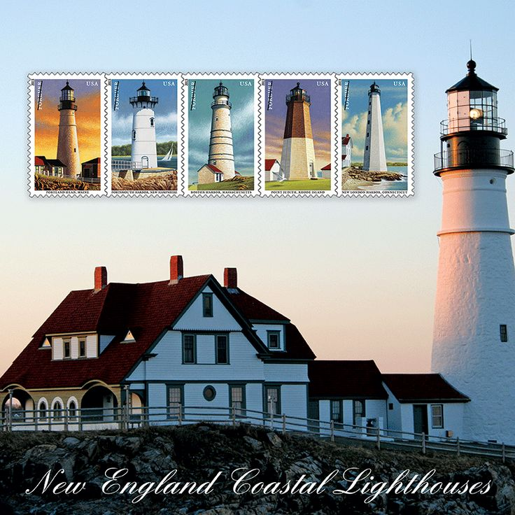 "Set beautiful ""Lighthouses"" as your computers wallpaper image. See this and the many other stamp fun wallpapers available from the American Philatelic Society (www.stamps.org)"
