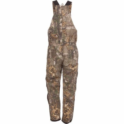 Men's Quilt-Lined Insulated Bib Overall, Realtree Xtra Camo, $84.99