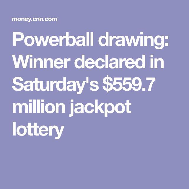 Powerball drawing: Winner declared in Saturday's $559.7 million jackpot lottery
