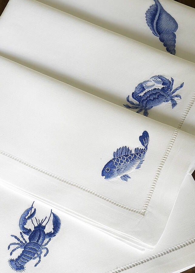 from the sea so pretty for a placemat. Might even like them with an ink stamp on the mats