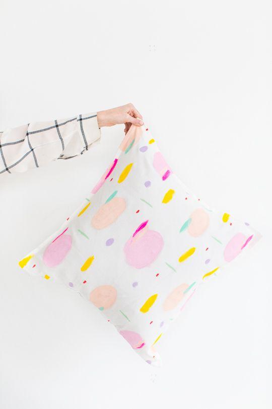 DIY pattern throw pillows | sugar & cloth