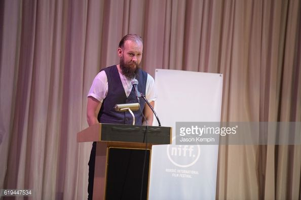 News Photo : Actor Kenneth Berg speaks on stage at the Nordic...