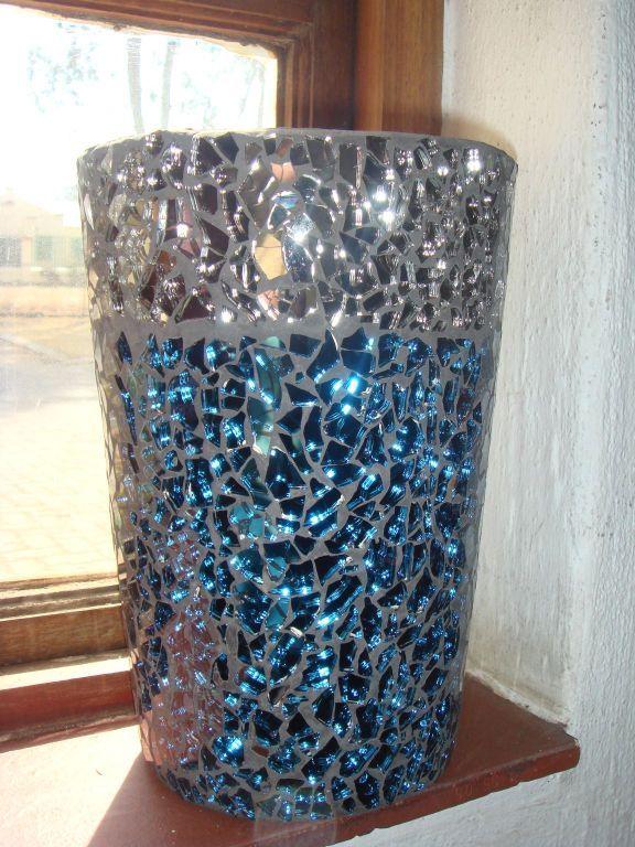 Diy Flowerpot Gem Glass Mosaic Diy Mosaic Flower Pot