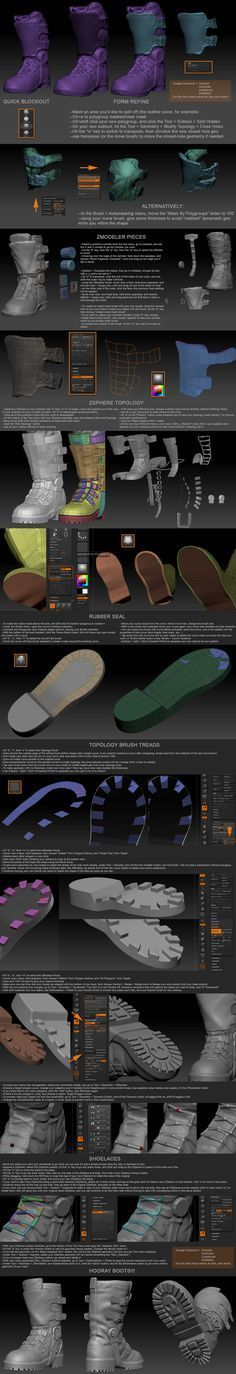 Boot Zbrush Tutorial by Michael Pavlovich – zbrushtuts