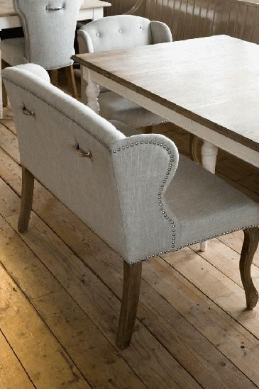 Perfect Low Wingback Dining Chair And Bench With Handles On The Back, Riviera Maison