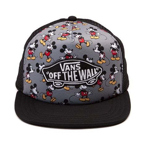 Oh Boy! Toon into the new Mickey Mouse Trucker Cap from Vans, featuring a Mickey Mouse printed crown with embroidered Off the Wall front logo patch, breathable mesh backing, and snap-back closure for an adjustable fit. Available for shipment in June; pre-order yours today! Only available at Journeys and Underground by Journeys!