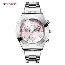2016 Top Marque De Luxe LONGBO Femmes Montres Mignon Rose Fille Élégante Dames Horloge À Quartz Étanche Montre Relogio Feminino 8399(China (Mainland))