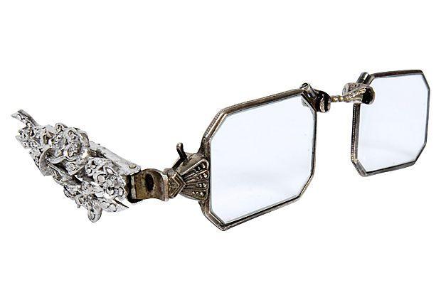 Floral Marcasite Folding Opera Glasses On Onekingslane Com