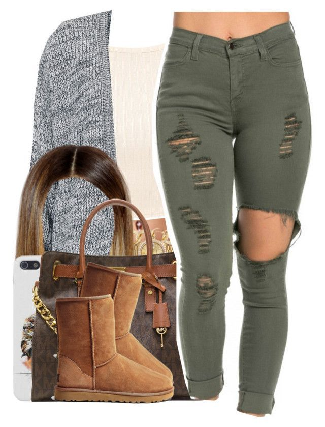 """It's Just Now Getting Cold.."" by nasiaamiraaa ❤ liked on Polyvore featuring Topshop, Forever New, Rolex, MICHAEL Michael Kors, UGG Australia and NanaOutfits"