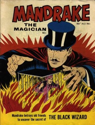 1930s comics Mandrake the Magician looks like father of Marvels Doctor Strange...