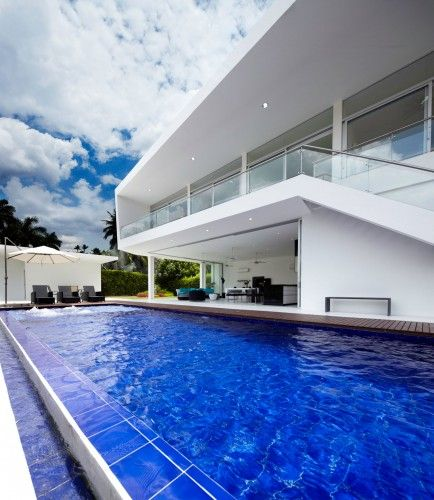 outdoor swimming pool landscape modern home design