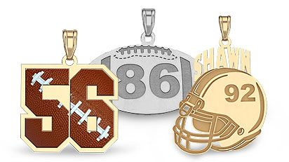 Football Charms - Football Necklaces - Football Jewelry - Football Pendants