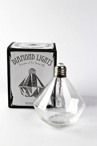 Diamond Light eclectic light bulbs.  Here is the designer's site with a list of web retailers:  http://www.erictherner.com/index.html