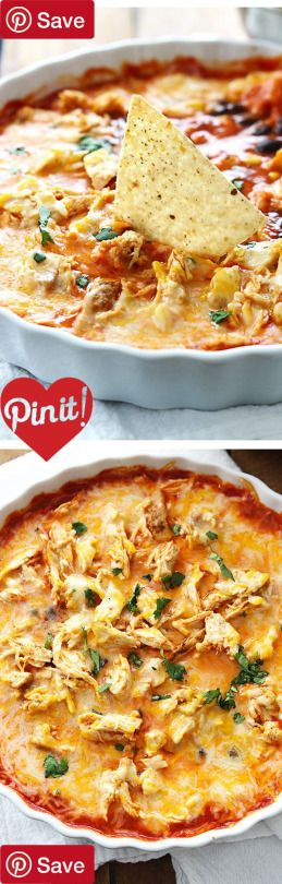 NEW DIY Chicken Enchilada Dip - Ingredients  Meat  1 Chicken breast  Produce  1 small can Black beans  1/3 cup Cilantro  1 cup Corn frozen yellow  Baking & Spices  2 tbsp Taco seasoning  Snacks  1 Tortilla chips  Dairy  1  cups Mexican blend cheese  Prepared  1 small can Enchilada sauce red DIY