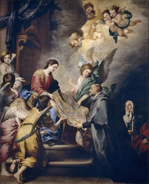 Aparición de la Virgen a san Ildefonso / The Apparition of the Virgin to Saint Ildefonso // Ca. 1655 // Murillo, Bartolomé Esteban