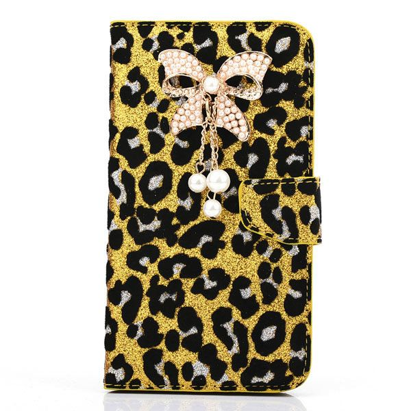 Tassel Glitter Leopard PU Leather Case For Samsung Galaxy Note 3 N9000…