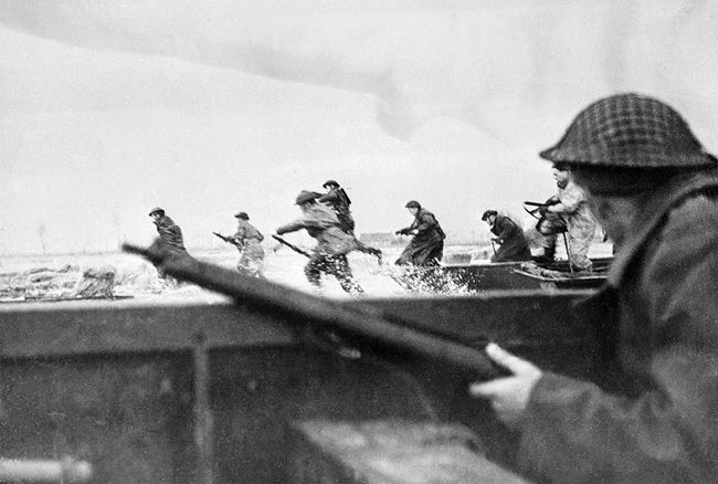 This picture shows Canadian troops landing on Juno beach on D-Day. This source is credible because it is a picture from an original observer from D-Day. It shows Canadian lives changing because they are finally winning over Nazi Germany.