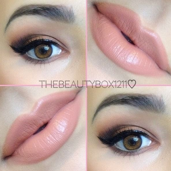 Sultry Wow pretty combo!  I love nude lip color and this pretty smokey eye.  I like smokey eyes but don't like heavy shadow (I know-I am a confused mess).  This one looks like something I could try-