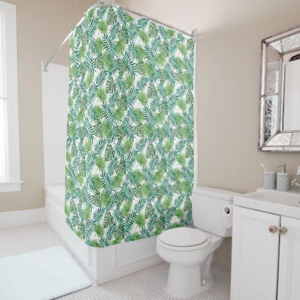 #leaf plant palm green Shower Curtain - #Bathroom #Accessories #home #living