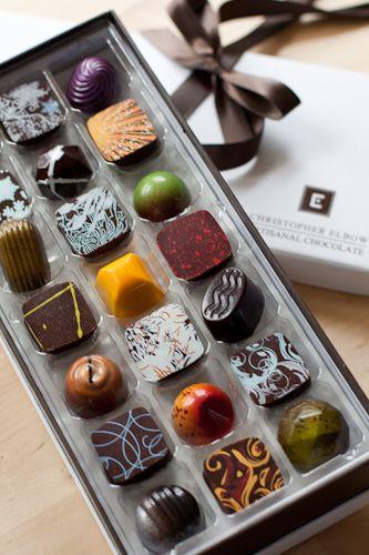 A quien no le dan placer unos deliciosos chocolates, sobre todo cuando conquistan desde el sentido de la vista como estas linduritas!  Christopher Elbow Artisanal Chocolates
