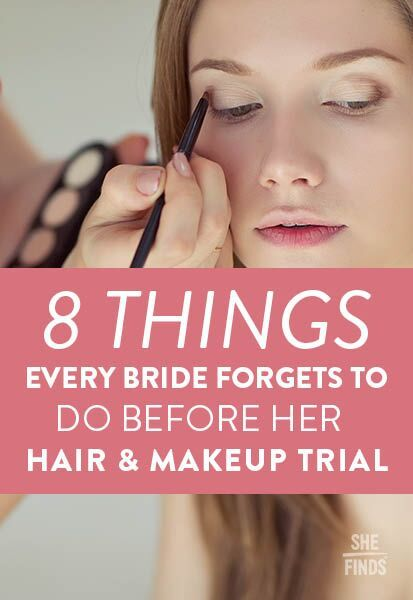8 Things Every Bride Forgets To Do Before Her Hair And Makeup Trial