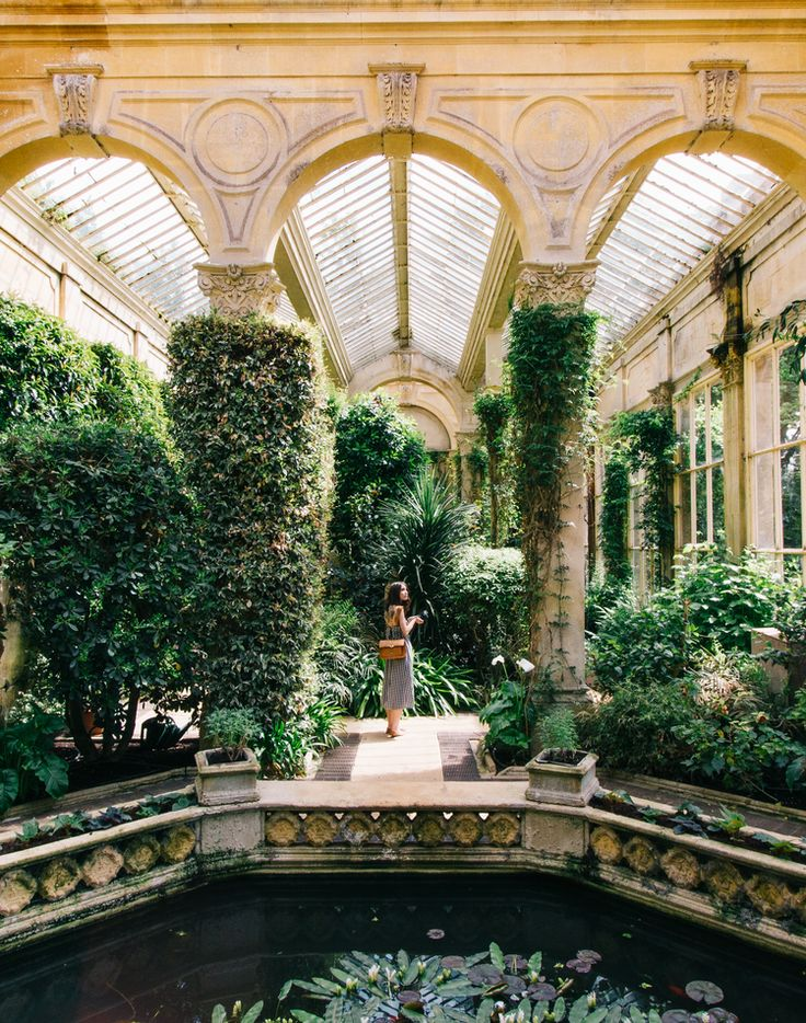 Victorian Greenhouse ~ on the grounds of the Castle Ashby manor house, near Northampton, England