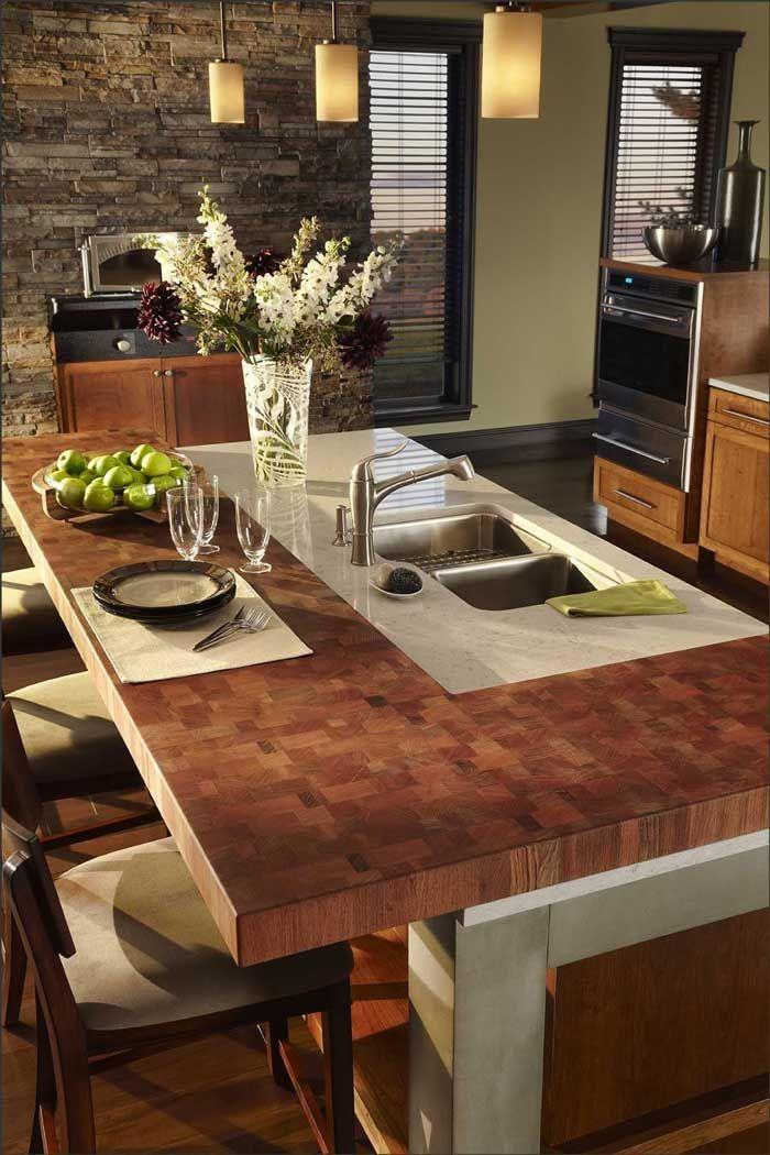 10 Hidden Benefits Of Wood Countertops Kitchen Island With Sink