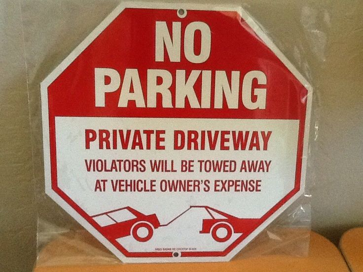 No Parking Sign - Private Driveway Violators Will Be Towed Away At Vehicle #SigoSigns