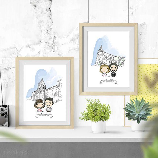 Regalo especial para los padres el día de tu boda. Lámina personalizada por Rite Rite