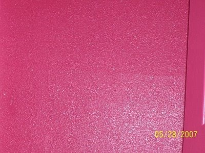 Pink Glitter wall paint~accent wall in Casi's room.