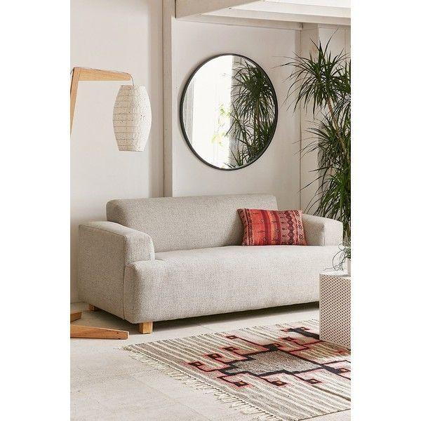 Delancy Sofa (11.127.845 IDR) ❤ liked on Polyvore featuring home, furniture, sofas, gray sofa, modern sofa, urban outfitters, urban outfitters furniture and modern couches