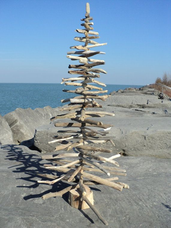 Unique handcrafted driftwood Christmas trees by TheSeashoreStore, $60.00