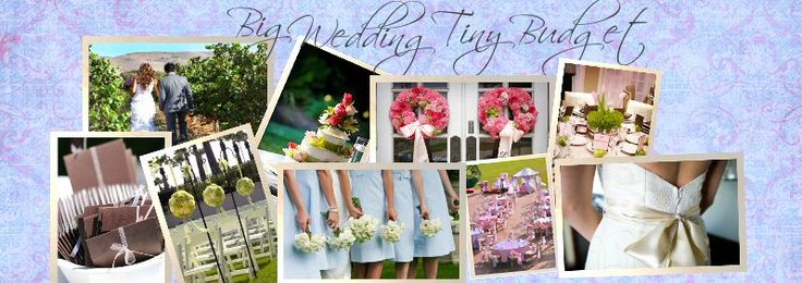 My new favorite website...lots of budget friendly ideas for your wedding.