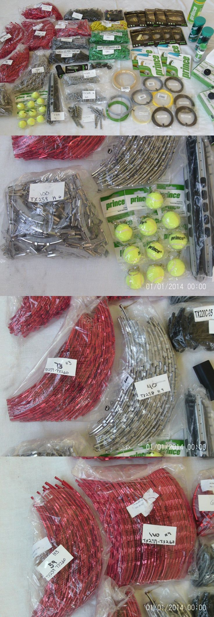 Other Tennis 2917: Large Mixed Lot Prince Tennis Racquet Bumpers, Grommets, String, Balls -> BUY IT NOW ONLY: $175 on eBay!
