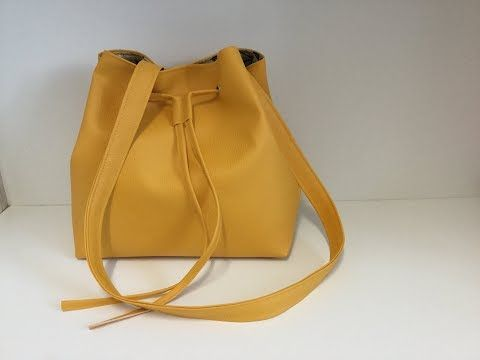 VideoTuto – Coudre un sac seau en similicuir – Tuto Couture Madalena  #coudre #c…