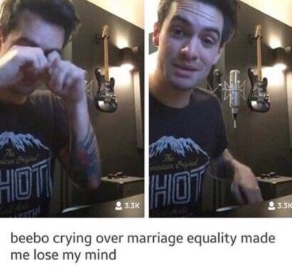 literally this is so amazing to know that someone we look up to cares so much about marriage equality