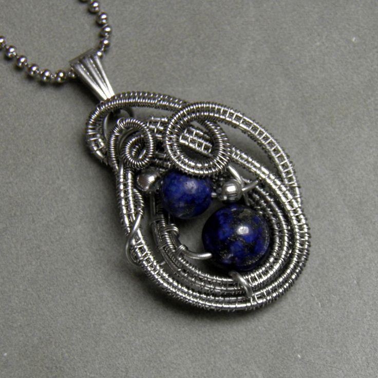 Přívěsek s korálky kamene egyptských královen - Lapisu Lazuli