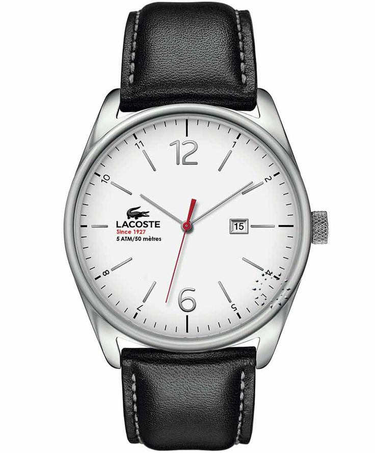 LACOSTE Austin Black Leather Strap Η τιμή μας: 119€ http://www.oroloi.gr/product_info.php?products_id=34729
