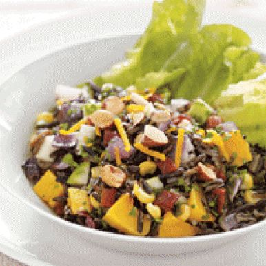 Wild Rice Salad with Apple and Toasted Almonds, one of my fav things ...
