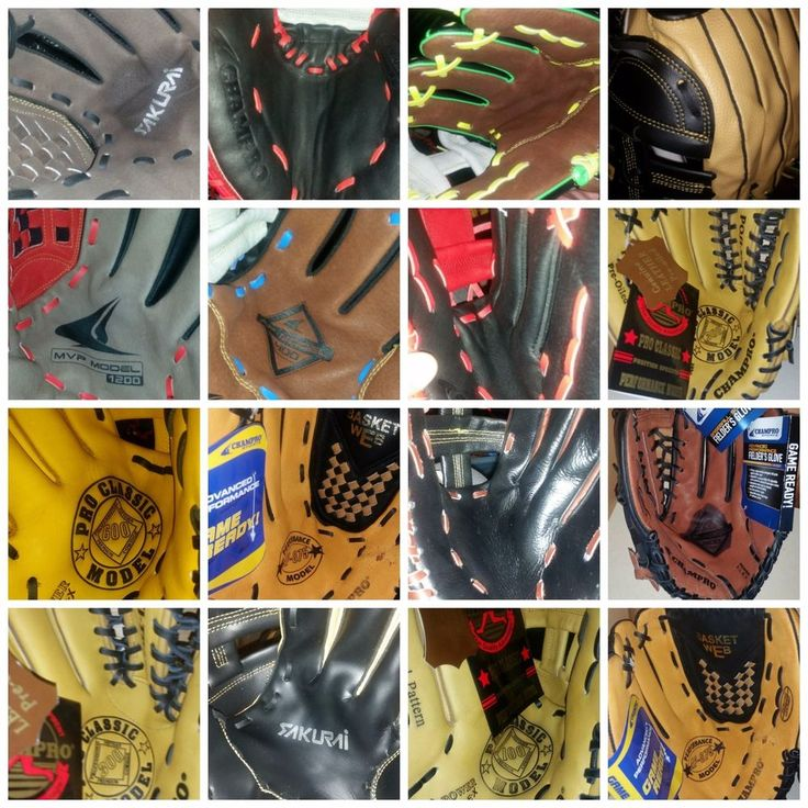 New Leather Pro Baseball and Softball  Mitts Multiple Styles Champro #CHAMPROSports
