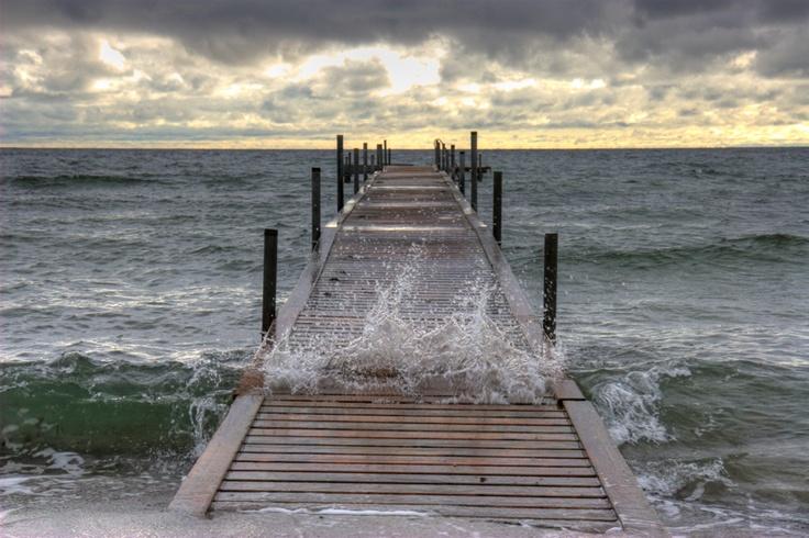 Badebro ved Solrød Strand
