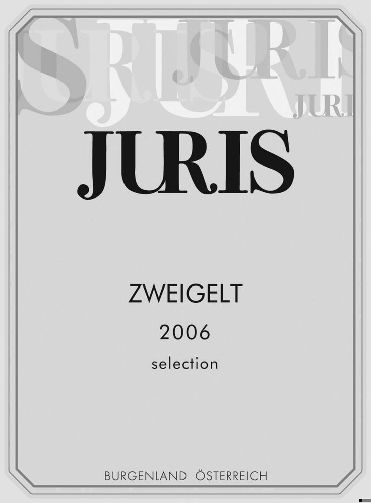 JURIS Zweigelt label